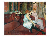 In the Salon at Rue Des Moulins, 1894 Giclee Print by Henri de Toulouse-Lautrec