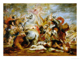 The Death of Consul Decio Mus Giclee Print by Peter Paul Rubens