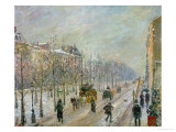 The Outer Boulevards: Snow, 1879 Giclee Print by Camille Pissarro