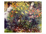 Women Amidst Flowers, 1875 Giclee Print by Claude Monet