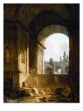 A Picturesque View of the Capitol in Rome Giclee Print by Hubert Robert
