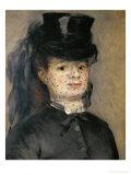Mme. Henriette Darras, Wife of Capt. Paul Darras, 1873 Giclee Print by Pierre-Auguste Renoir