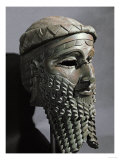 Male Head with Beard (Sargon), from Niniveh, Bronze or Copper, Akkadian Giclee Print