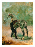 Artilleryman Saddling His Horse, 1878 or 1881 Giclee Print by Henri de Toulouse-Lautrec