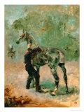 Artilleryman Saddling His Horse, 1878 or 1881 Giclee Print by Henri de Toulouse-Lautrec