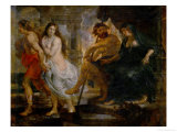 Orpheus and Euridice with Pluto and Proserpina, Painted for the Torre De La Parada Giclee Print by Peter Paul Rubens