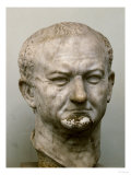 Emperor Vespasian (69-79 CE), Marble Head from Ostia, Italy Reproduction procédé giclée