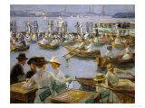 On the Shores of the Alster, Hamburg, 1910 Reproduction procédé giclée par Max Liebermann