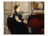 Madame Manet (Suzanne Leenhoff, 1830-1906) at the Piano Giclee Print by Édouard Manet