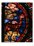 The Animals Boarding Noah&#39;s Ark, from the Noah-Window, 13th circa Stained Glass Giclee Print