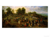 Folk Dance Before the Archdukes Giclee Print by Jan Brueghel the Elder