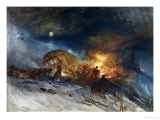 Messieurs Les Voyageurs on Their Return from Italy (Par La Diligence) in a Snow Drift Giclee Print by William Turner