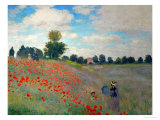 The Poppy Field, 1873 Giclee Print by Claude Monet