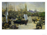 The Harbour of Bordeaux, 1871 Giclee Print by Édouard Manet