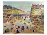 The Avenue De L'Opera, Sunlight, Winter Morning, Around 1880 Giclee Print by Camille Pissarro
