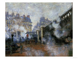 Le Pont De L'Europe, Gare Saint-Lazare, 1877 Reproduction procédé giclée par Claude Monet
