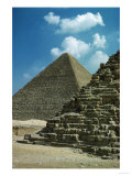 The Pyramid of Pharaoh Chefren Has Preserved a Large Part of Its Limestone Casing Near the Top Giclee Print
