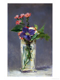 Carnations and Clematis in a Crystal Vase, 1882 Gicle-tryk af douard Manet