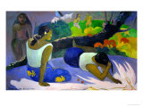 Pleasures of the Evil Spirit, (Arearea No Vareua Ino), 1894 Gicledruk van Paul Gauguin