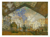 La Gare Saint Lazare, 1877 Giclee Print by Claude Monet