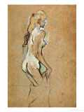 Nude Girl, 1893 Giclee Print by Henri de Toulouse-Lautrec
