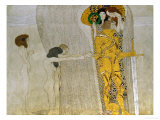 Beethoven Frieze Inspired by Beethoven's 9th Symphony, the Knight in Shining Armour Lámina giclée por Gustav Klimt