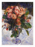 Moss Roses, circa 1890 Giclee Print by Pierre-Auguste Renoir