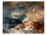 Fire Aboard Ship Giclee Print by William Turner