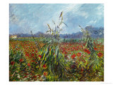 Field with Poppies Gicléedruk van Vincent van Gogh