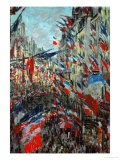 Paris, Rue St. Denis: Celebration of June 30, 1878 Giclee Print by Claude Monet