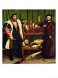 The French Ambassadors of King Henry II at the Court of the English King Henry VIII Giclee Print by Hans Holbein the Younger