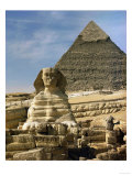 The Sphinx and Pyramid of Pharaoh Chefren Giclee Print