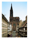 Notre Dame Cathedral, Strasbourg, Begun in Romanesque Style in 1015, Gothic Building, 1176-1439 Giclee Print