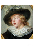 Portrait D'Un Jeune Homme, Portrait of a Young Man Reproduction procédé giclée par Jean-Honoré Fragonard