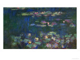 Waterlilies, Green Reflections, 1914-1918 Giclee Print by Claude Monet