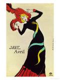 Dancer Jane Avril, Poster Giclée-Druck von Henri de Toulouse-Lautrec