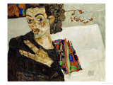 Self-Portrait with Spread Fingers, 1911 Giclee Print by Egon Schiele
