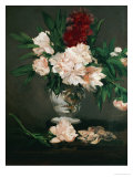 Vase with Peonies on a Pedestal, 1864 Giclee Print by &#201;douard Manet