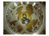 Christ Pantocrator, View into the Cupola with Close-Up of the Mosaic, Byzantine, 11th CE Giclee Print