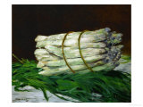 A Bunch of Asparagus, 1880, Formerly in the Collection of Painter Max Liebermann Giclee Print by Édouard Manet