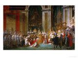 Sacre de Napoléon (couronnement) à Notre-Dame de Paris par le pape Pie VII, le 2 décembre Reproduction procédé giclée par Jacques-Louis David
