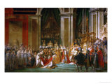 Sacre De Napoleon (Coronation) in Notre-Dame De Paris by Pope Pius VII, December 2, 1804 Giclée-tryk af Jacques-Louis David