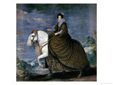 Equestrian Portrait of Queen Isabella of Bourbon, Wife of Philip IV Giclee Print by Diego Velázquez
