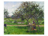 Barrow in the Orchard, circa 1881 Giclee Print by Camille Pissarro