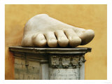 Marble Hand from Colossal Figure of Emperor Constantine the Great (306-337 CE) Giclee Print