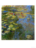 Waterlilies, 1917-1919 Giclee Print by Claude Monet