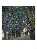 Tree-Lined Road Leading to the Manor House at Kammer, Upper Austria, 1912 Reproduction procédé giclée par Gustav Klimt