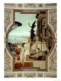 Vienna Burgtheatre (Court Theatre) Giclée-Druck von Gustav Klimt