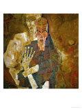 Death and Mann, Tod Und Mann or Selbstseher (II) Giclee Print by Egon Schiele