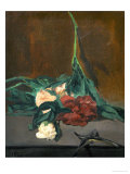 A Stem of Peonies and Pruning Shears, 1864 Giclee Print by Édouard Manet